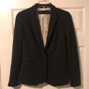 Zara basic dark gray blazer